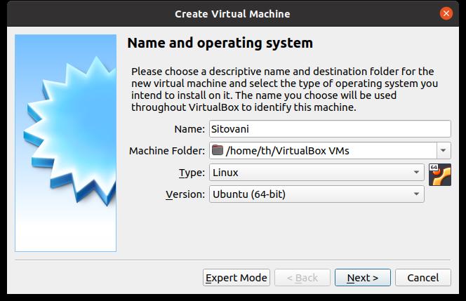 VirtualBox - Nový VM